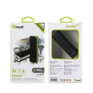Batería Externa Muvit 2600 mAH